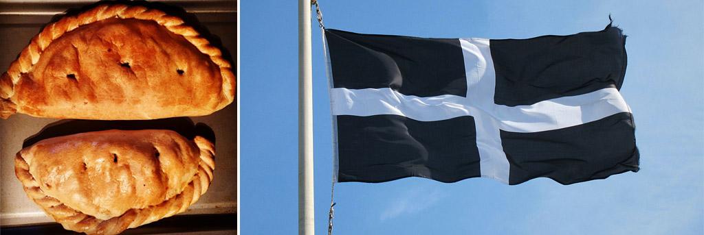 Cornish Pasty and Cornish Flag
