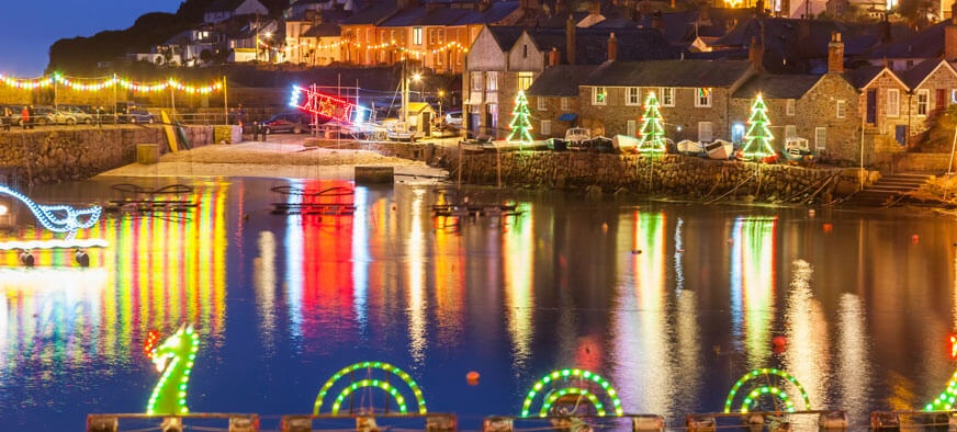 Cornish Christmas town